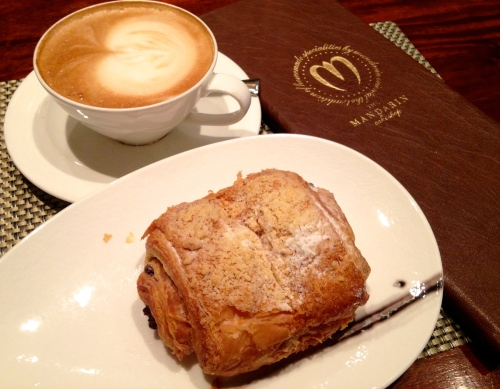 Mega pain au chocolat at The Mandarin Oriental