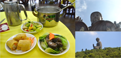 Vegetarian feast at Po Lin Monastery